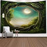 YYRAIN Psychedelic Forest Home Colgante De Pared Arte Natural Tapiz Dormitorio Dormitorio Decoraciones para Sala De Estar 200x150cm D