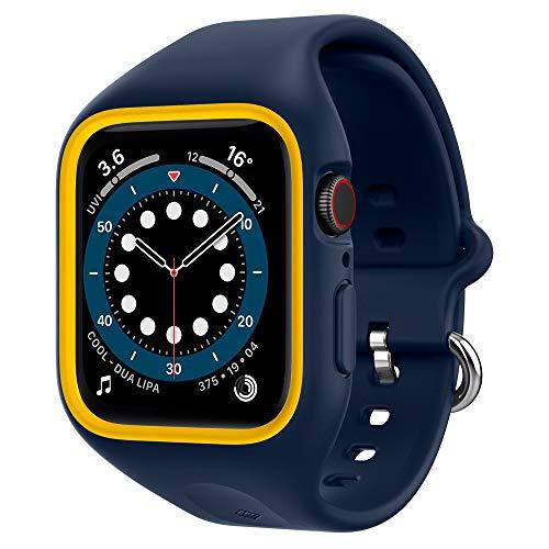 Caseology Nano Pop Compatibile con Apple Watch Custodia con Cinturino per 44mm Series 6 (2020) SE (2020) 5 (2019) 4 (2018) - Blueberry Navy