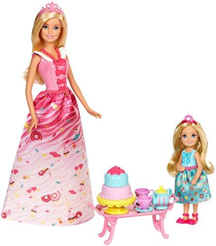 Barbie- Dreamtopia Sweetville Princess Tea Party Chelsea Merienda Princesas, Multicolor (Mattel FDJ19) , color/modelo surtido