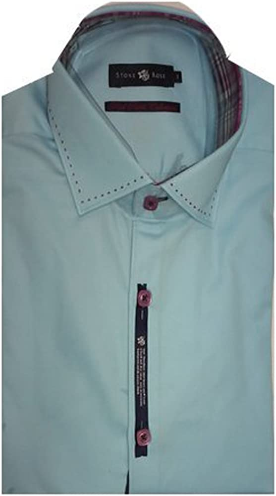 Stone Rose Light Navy Dress Shirt