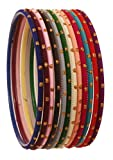 Touchstone 'Colorful Bangle Collection Indian Bollywood Beautiful 12 Rich Gorgeous Live Textured Matte Multi Colors of Life, Wrist Enhancing Bangle Bracelets. Set of 12.For Women.