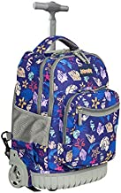 Zovota Sea Rolling Backpack for Boys and Girls Wheeled Backpack Laptop Backpack, 18 inch