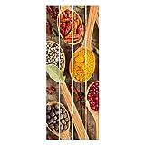 Bilderwelten Cuadro de Madera - Spices On Wooden Spoon 120x48cm