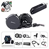 Bafang 8fun Mid Drive Crank Motor 48v 750w 25A BBS02 Electric Bike Conversion Kit (46T, 850C)(AD)