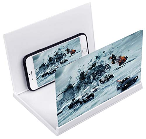 Kitchen-dream 8 Zoll Mobile bildschirmlupe 3D HD Faltbarer Bildschirm verstärker Smartphone vergrößerungsbildschirm Handy bildschirmvergrösserung geeignet für Allen Smartphones