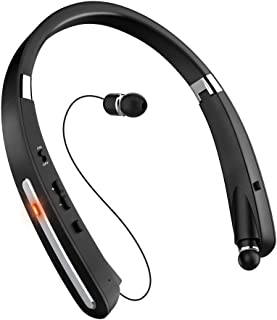 Bluetooth Headset, Bluetooth Headphones-LBell 30 Hrs Playtime Wireless Neckband Design W/Foldable Retractable Headset for ...