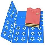 Aprata Shirt Folding Board Adult Size Adjustable Clothes Easy Laundry Clothing Folder Organize Board Flipfold Folding Boards Blue