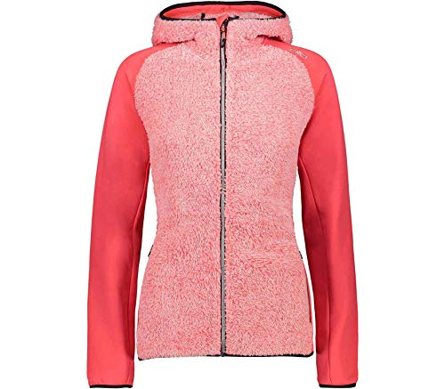 CMP Stretch Fleecejacke Teddy mit Kapuze XXS Red Fluo