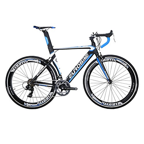 Eurobike Bicycle XC7000 700C Aluminum alloy frame Road Bikes 14 Speed Road Bicycle Blue