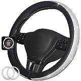 Cystal Steering Wheel Cover Bling Bling Rhinestones Diamond Swarovski Steering Wheel Cover for Women Girl 15 inch,Black