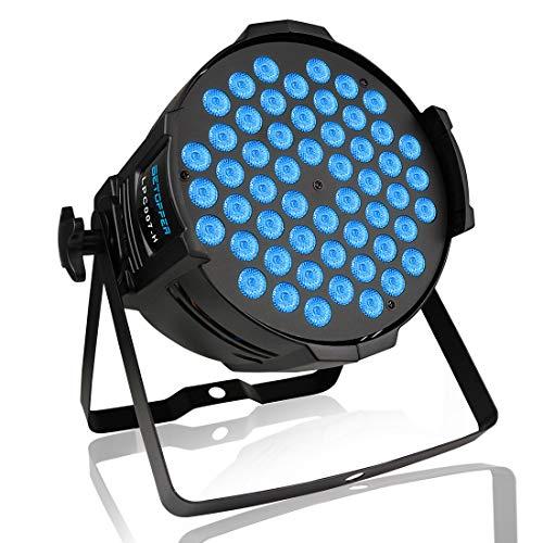 BETOPPER LED Par Scheinwerfer, 54 x 3W LEDs RGB 3-in-1 Par Strahler, professionelles DJ-Licht mit hoher Lichtleistung, Bühnenbeleuchtung kompatibel mit DMX-Controller, LPC007-H