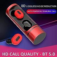 Honelife K1ステレオBT5.0イヤフォンヘッドフォンインイヤーヘッドセット(充電ボックス付き)Android/iOS用の充電をサポート-1#GW