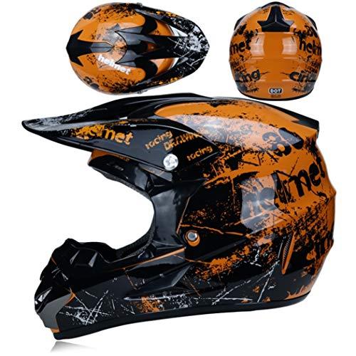 OLEEKA Casco de motocross ATV Motocicleta Casque Moto Casco Casco de bicicleta de tierra para todo terreno adecuado para niños, niñas