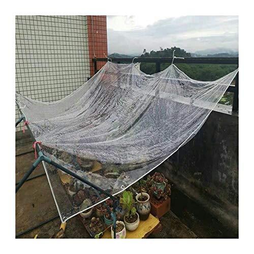 JYW-coverS YANJINGYJ Lona Impermeable, Lona De Protección, Duradera con Ojales for Muebles De Jardín Piscina Coche (Color : Clear, Size : 1x1m)