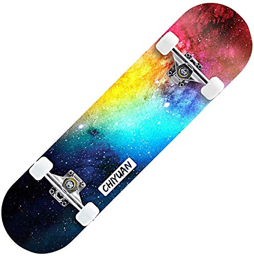 LINANNAN Standard Komplett Skateboards 31x 8-Zoll-Longboard für Kids Teens & Erwachsene Anfänger Teens Geschenk...