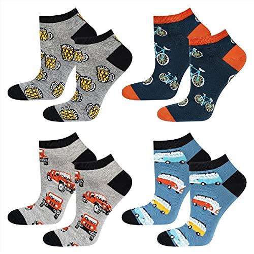 soxo Calcetines de Color para Hombre | Talla 40-45 | Calcetines largos de algodón en coches | Perfectos para Zapatos y Botas
