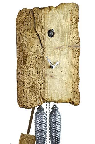 von Eble Uhren-Park Kuckucksuhr Original Schwarzwälder Kuckuckuhr Echtholz mechanisches 8-Tage Laufwerk NEU VDs Zertifikat Romba -Holzdiele Unikat 39cm- AH35-UNIKAT 15