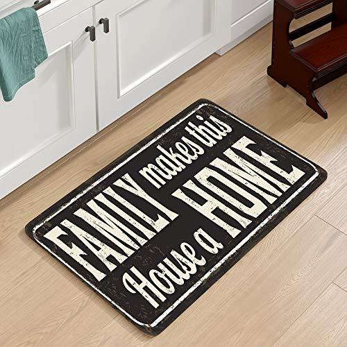HLXX Alfombra de Cocina Vintage Alfombras Bohemia Alfombra de Puerta Antideslizante Alfombra Alfombras de Puerta Alfombras y alfombras al Aire Libre para el hogar Sala de Estar A2 50x80cm
