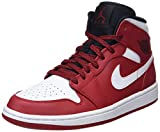 Nike Air Jordan 1 Mid, Zapatos de Baloncesto Hombre, Negro (Gym Red/White/Black 605), 49.5 EU