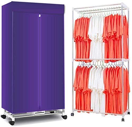 Percha Sky Conveniente Conveniente Secadora Secadora Doble Dual-Core Capacidad de 2 capas Secadoras de ropa - 180 minutos Temporizador, Ropa eléctrica Secado, Secadora de ropa Portátil, Armario de air