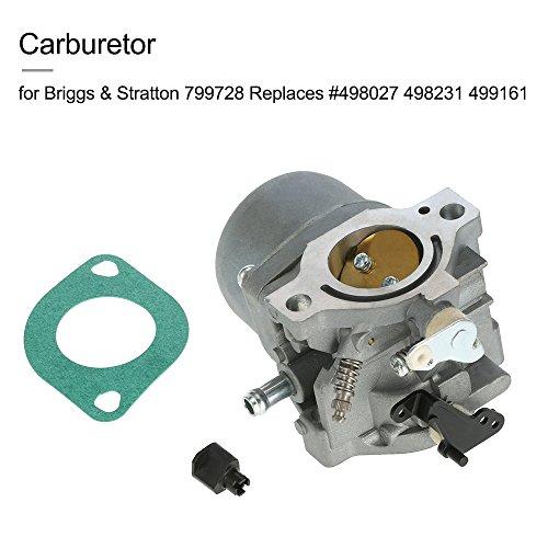 KKmoon Vergaser für Briggs & Stratton 799728 ersetzt #498027 498231 499161