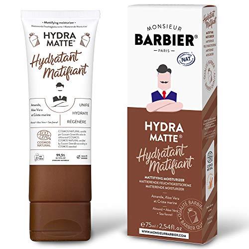 Monsieur BARBIER Crème de Soin Visage Hydratante/Matifiante pour Homme HYDRA MATTE 75 ML