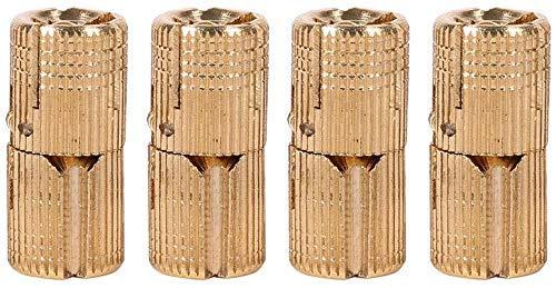 Bisagra oculta, 4 bisagras ocultas de barril de cobre para caja, caja de regalo, encimeras (14 mm)