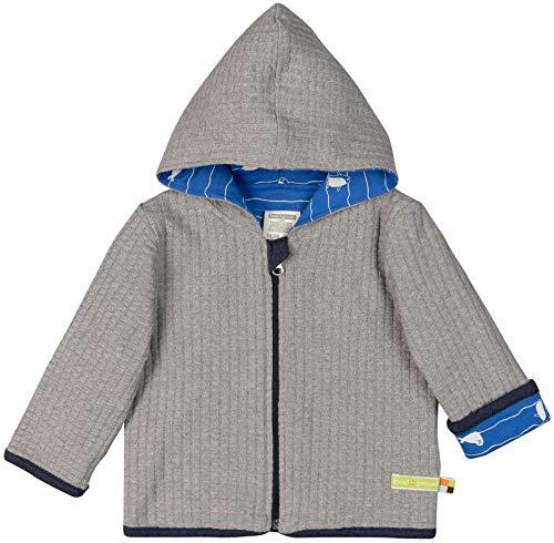 loud + proud Baby-Unisex Wendejacke Strick Aus Bio Baumwolle Strickjacke, Grau (Grey Gr), 92 (Herstellergröße: 86/92)