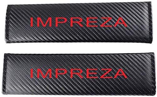 Seat Belt Covers,2 Pcs Car Belt Cover Shoulder Pads, for Subaru Impreza All Models Comfort Interior Protection Accessories Carbon Fiber