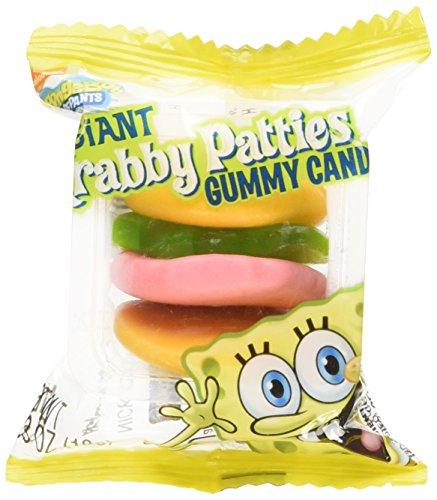SpongeBob Squarepants Giant Gummy Krabby Patties 0.63 OZ (36 Count)