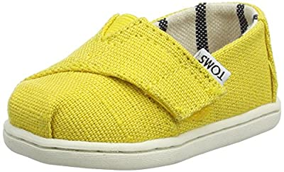 TOMS Kids Venice Collection Alpargata (Infant/Toddler/Little Kid) Dandelion Heritage Canvas 9 Toddler