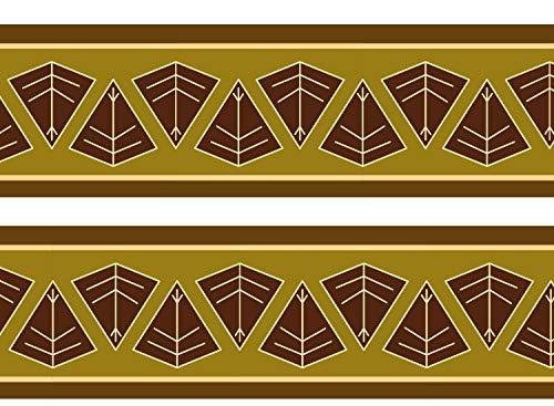 wandmotiv24 Bordüre Afrikanisches Schild 260cm Breite - Vlies Borte Tapetenbordüre Bordüren Borde Wandborde Africa braun Muster M0034