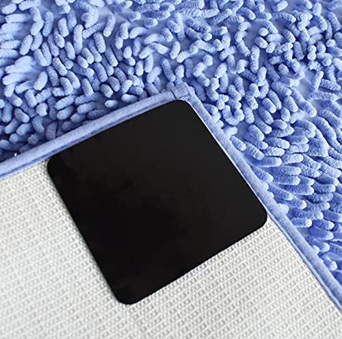 Longsheng 4 pegatinas antideslizantes para suelos duros, pinzas de alfombra de esquina para alfombras y tapones, antideslizante y rizado, adhesivo de alfombra reutilizable