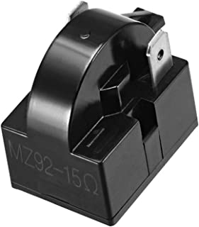 uxcell 15 Ohm 2 Pin Refrigerator PTC Start Relay for Compressor Black