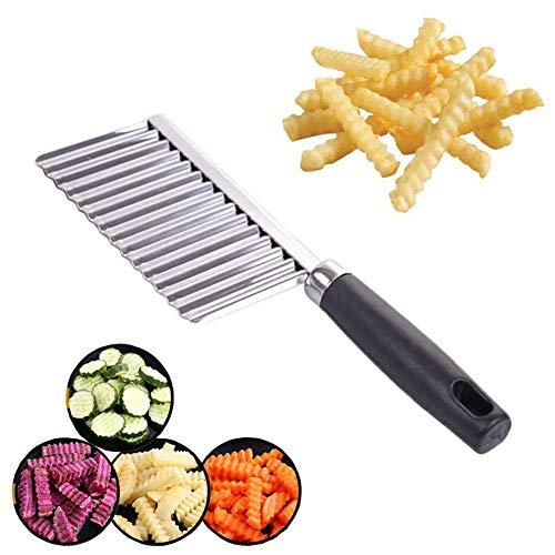 Crinkle Cutter, Wavy Chopper Cut Knife, Stainless Steel Wavy Slicer, Vegetable Potato Cucumber Carrot Garnishing Knife, Home Kitchen Wavy Blade Cutting Tool