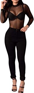 BODOAO Women Black Jeans Skinny Stretch Denim Jeans Pants High Waist Jeans