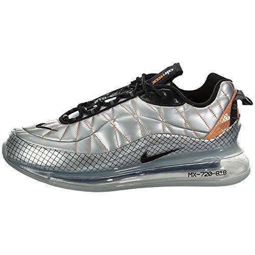 Nike MX-720-818, Scarpe da Corsa Uomo, Metallic Silver/Black/Total Orange, 41 EU