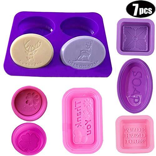 ZHANChen Seifenform SilikonSilikonformfür Seifenherstellung, Muffins (7 Stück)