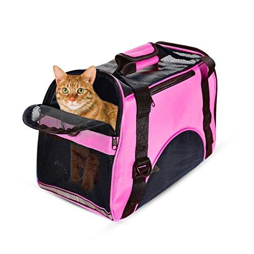PETCUTE Trasportin Gatos Portador para Mascotas portátil Portador de Viaje Ligero para Perros Gatos Bolsa para Mascotas