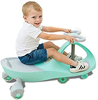 COOLBABY Kids Swing Car Ride On Twist Car Toy Ride On Wiggle Car,Swivel Scooter Ride on Toy with Music Light Steering Whee...