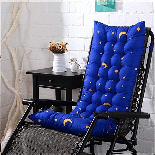 NoNo Bureaustoel, eenkleurig, dik, dubbelzijdig, klapstoel, lang kussen voor lunchpauze, tuinligstoel, mat.-nr. 48X160CM marineblauw
