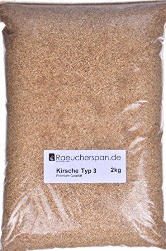 Räucherspäne Räuchermehl Kirsche Kirschbaumholz Typ 3 mittelfein 0,3-1mm für Sparbrand geeignet (2.00.)