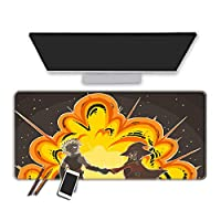 マウスパッド 私のヒーローアカデミーアニメマウスパッド拡張ゲーミングキーボードパッドオフィスホームマウスパッド縫製エッジPcラップトップパッド耐久性のあるラバーベースマウスパッド-60X30Cm