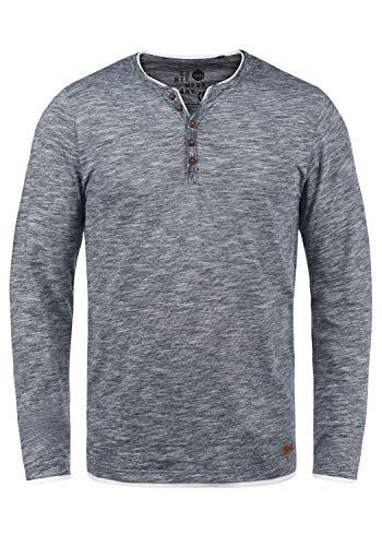 !Solid Belagos Herren Grandad Longsleeve Langarmshirt Aus 100% Baumwolle, Größe:M, Farbe:Insignia Blue (1991)