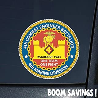 Marines USMC 4th Combat Engineer Battalion SSI 6