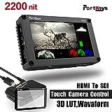 PortKeys BM5 5.2 Inch 2200nit 3G SDI/HDMI Touch Screen Monitor with 3D LUT,Wavaform,Camera Control Functions For Canon1D X/Mark Ⅱ/5DS/5DS R/5D Mark Ⅳ/5D Mark Ⅲ/5D Mark Ⅱ/6D Mark Ⅱ/6D/80D/EOS R Camera