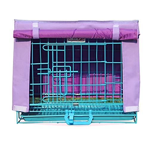 LDIW Cubierta para Jaula de Perrode Cubiertas de Perrera aptas para Interiores/Exteriores Protectores de Jaula para Perros,Púrpura,75x48x57cm