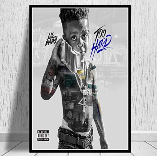 Impresiones De Carteles Lil Baby & Gunna Drip Hip Hop Rap Music Singer Star Wall Art Canvas Pintura Sala De Estar Decoración del Hogar 40X50Cm -Gl823