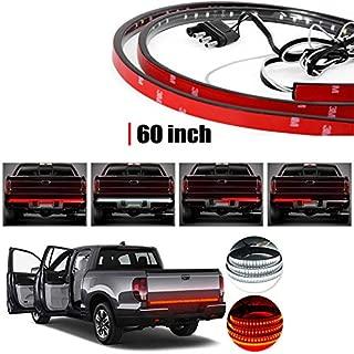 "Led Tailgate Light, Tinpec 60"" White Red Truck Turn Signal Tail Reverse Lights Bar, Universal Trailer Strip LED Bars for 2003-2012 Dodge Ram 1500 2500 3500 5500, Chevy, GMV, Sierra, F150 F250"