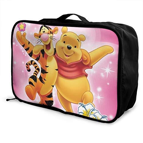 Cartoon Winnie Pooh Bear Tigger Viaggio Duffel Borsone Impermeabile Moda Leggero Grande Capacità Portatile Bagagli Borse